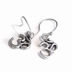 """♥️ Sterling Silver """"Om"""" Earrings 925 ♥️"""